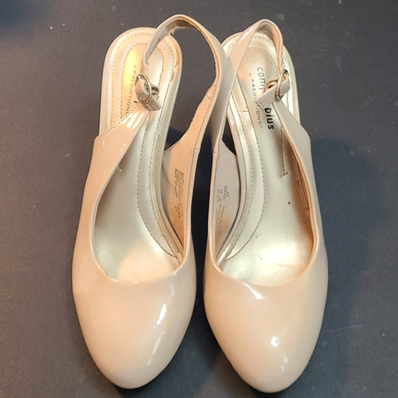 Comfort Plus Nude Slingback Heels